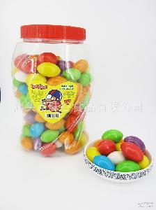 ball olivary big 出口热销 彩色罐装橄榄形泡泡糖 gum bubble