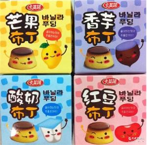 360g卡其诺酸奶布丁 香港进口果冻 30g*12粒精美盒装果冻布丁