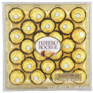 意大利费 钻石精品礼盒装 列罗榛果威化巧克力(24粒装) 进口食品