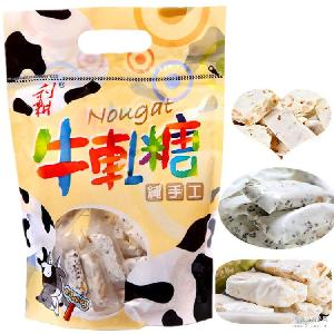 批发台湾进口食品利耕牛轧糖250g*36包花生芝麻抹茶味牛轧糖