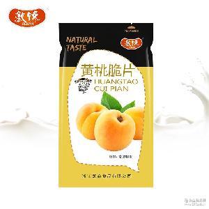 激馋休闲零食脱水蔬菜脆片即食黄桃脆片3KG/箱厂家称重批发