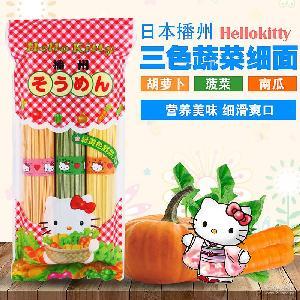 播州三色细面蔬菜婴儿幼儿宝宝营养面条 日本进口食品 Hellokitty