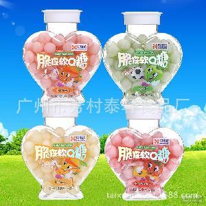 【好事达】休闲食品乳球水果夹心软硬糖脆皮QQ糖180g批发特价代发