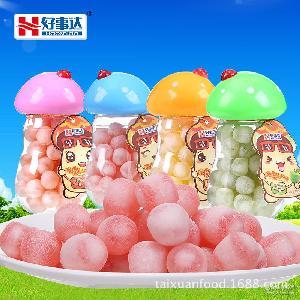 【好事达】休闲食品乳球水果夹心软硬脆皮软QQ糖80g批发一件代发
