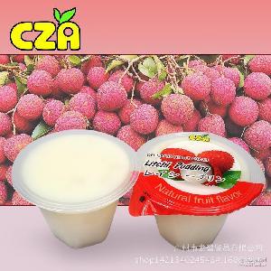荔枝果冻布丁100g乘6盒装台湾进口香滑可口布丁果冻儿童布丁