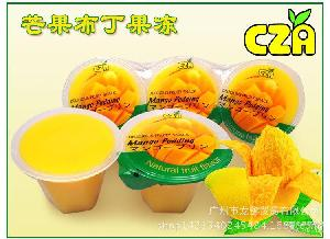 CZA芒果水晶布丁果冻果冻布丁100g乘6盒装台湾进口休闲零食