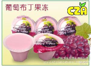 台湾进口香滑可口葡萄果冻布丁休闲零食儿童布丁果冻100g乘6盒装