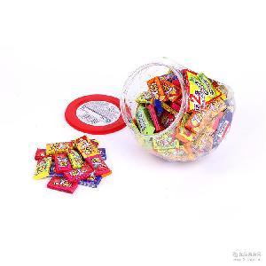 儿时怀旧经典零食箭牌-瓶大大泡泡糖什锦味150粒720g 童年的记忆