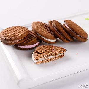 真巧饼干酱心曲奇巧克力牛奶草莓 饼干夹心饼干早餐零食小吃