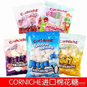 进口棉花糖糖果可尼斯巧克力原味水果味青苹果芒果味泰迪棉花糖