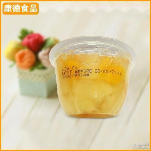宁波厂家生产批发 什锦菠萝果肉果冻113g 酸甜口味果冻果杯罐头