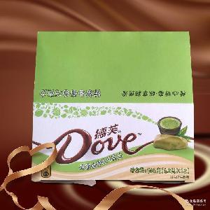 批发新品新口味德芙曲奇白巧克力条装42g*12/盒草莓柠檬抹茶味