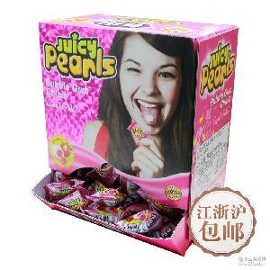 Fini菲尼珠光球西班牙零食草莓味夹心泡泡糖单粒6盒*200粒
