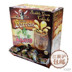 Fini菲尼啤酒桶西班牙混合鸡尾酒夹心泡泡糖6盒*200粒(整箱)