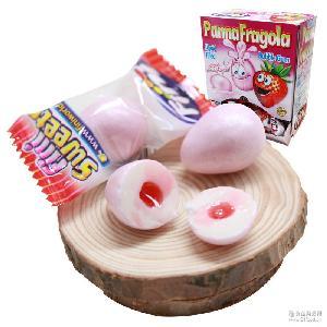 Fini菲尼幸运蛋泡泡糖(整盒)草莓夹心办公室零食单粒装200粒