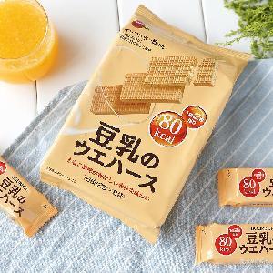 日本进口饼干波路梦bourbon豆乳威化饼107g16枚入 一般贸易 行货