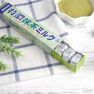 日本进口零食 uha悠哈味觉 特浓抹茶牛奶糖50g 10粒入