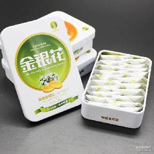 蜂蜜金花糖果古法润喉糖正宗蜂蜜硬糖含片清凉平咳化痰铁盒装20颗