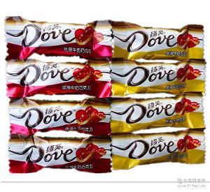 德芙巧克力批发德芙丝滑牛奶巧克力婚庆双喜4.5克正品