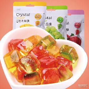 糖果零食小吃 厂家直销 跳跳龙酱爆水晶糖22gx1袋多口味水果软糖