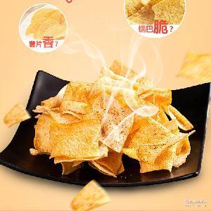 手工山药脆片薯片河南特产膨化食品锅巴麻辣味吃货休闲零食小吃