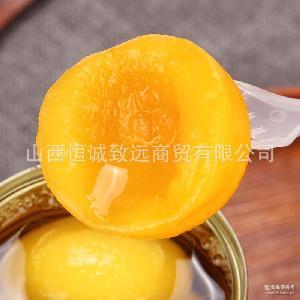 热销推荐烘焙专用黄桃罐头 桃如意 黄桃罐头批发