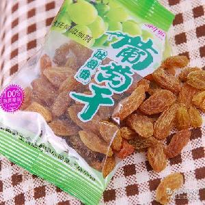 休闲包装 吐鲁番葡萄王小粒绿葡萄干零食 10斤/件 新疆特产葡萄干