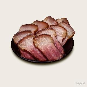 包邮!批发特价年货湖北特产散装柴火烟熏肉腊肉500g一件真空包装