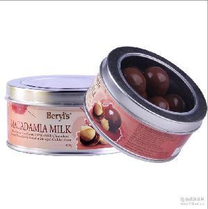 夏威夷果仁扁桃夹心牛奶巧克力 情人节 倍乐思 巧克力 马来西亚