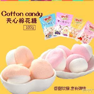 厂家直销 商超* 多种口味 伊卡乐棉花糖 牛轧糖/烘焙糕点原料