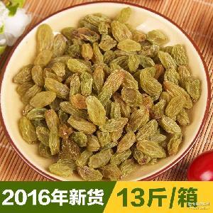 2016年吐鲁番葡萄干散装批发休闲零食每箱13斤 新疆特产大葡萄干