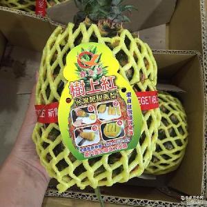 【爱鲜果】台湾树上红金钻凤梨无眼菠萝甜6-7颗礼盒箱约20斤包邮