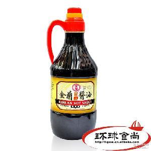 美味热销调味品 进口酱油批发 台湾金兰甘醇酱油1500ml*6瓶/箱
