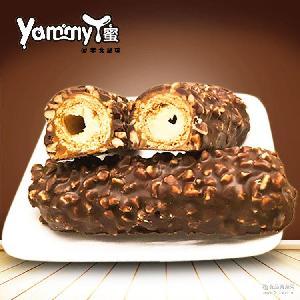 锦大休闲食品零食巧克力 花生夹心巧克力棒35g*24根/盒 Max5
