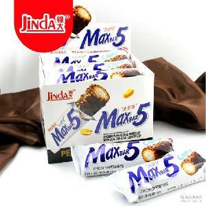 锦大max5巧克力棒 果仁棒 零食特产 35g