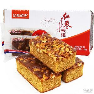 国宇枣糕优然尚语整箱4斤红枣核桃夹心面包糕点心特产小吃零食品