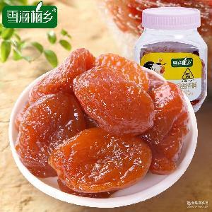 美味零食 蜜饯果脯果干杏肉干 雪海梅乡 无核酸甜杏脯140g扁瓶装