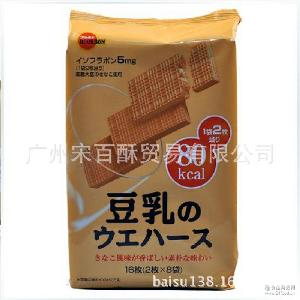 牛奶味118g*24包 bourbon布尔本豆乳威化饼干 批发日本进口零食