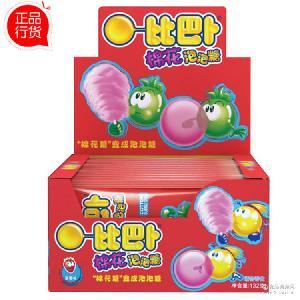 132g比巴卜棉花泡泡糖 超市食品配送 儿童 卡通 趣味泡泡糖