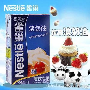 蛋糕烘焙原料 非小雀巢淡奶油 雀巢淡奶油1L 致富