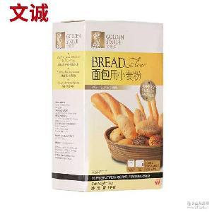 金像牌高筋面粉 面包用小麦粉1000g盒装 烘培原料面粉批发