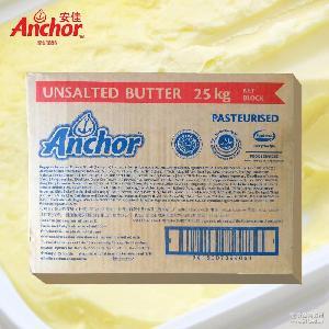 新西兰安佳 动物黄油 有卫检 食用无盐大黄油25KG 烘焙大牛油