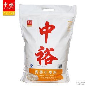 中裕5kg麦香粉 馒头粉 中筋小麦面粉 家用粉 面粉批发 包子粉