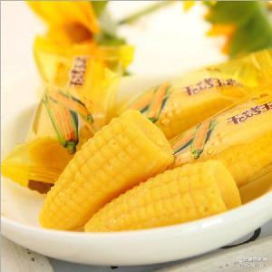 小孩休闲零食干烤玉米糖食品批发散装 一定红婚喜糖玉米软糖糖果