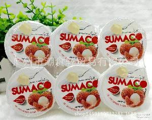 批发进口马来西亚素玛哥SUMACO荔枝味果冻6杯装660G 12排一箱