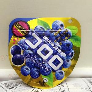 批发日本跨境零食悠哈UHA味觉糖纯正*蓝莓果汁软糖40g*72包