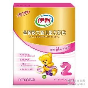 适合6-12个月批发 伊利金装较大婴儿奶粉2段400克奶粉