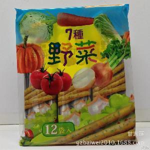 12包一箱 批发供应马来西亚厚毅7种野菜脆棒饼干192克 休闲零食