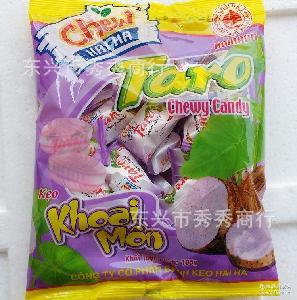 香芋味进口软糖 越南什锦海霞糖 105g*60袋/箱 水果软糖厂家直销
