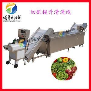 全自动瓜果切割生产线 蔬菜切割清洗生产线